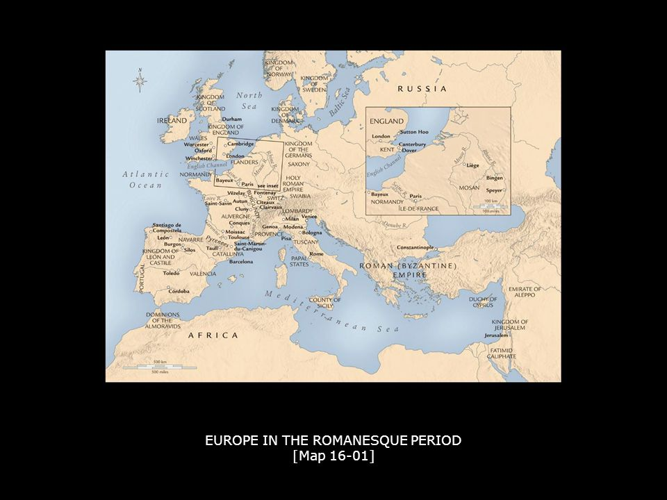 EUROPE IN THE ROMANESQUE PERIOD [Map 16-01]